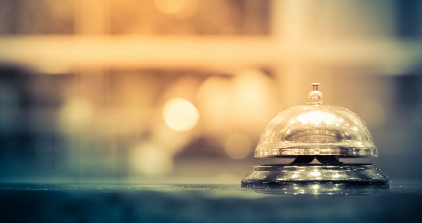 Concierge bell at hotel